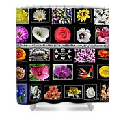 Floral Composite Not For Sale Shower Curtain