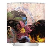 Floral Horse Shower Curtain