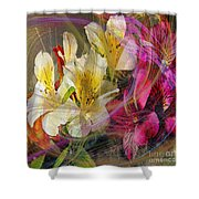 Floral Inspiration - Square Version Shower Curtain