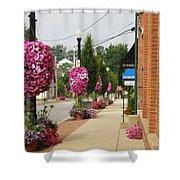 Floral Lining Shower Curtain by Caryl J Bohn