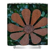 Floral Metal Art Shower Curtain