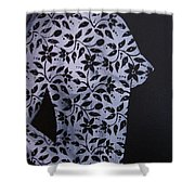 Floral Nude Shower Curtain