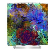 Floral Psychedelic Shower Curtain