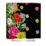 Floral Rhapsody Pt.4 Shower Curtain