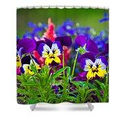 Floral Salad Shower Curtain