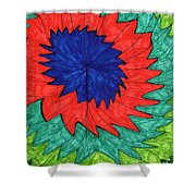 Floral Spin Shower Curtain