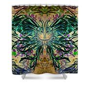 Floral Synapse 2 Shower Curtain