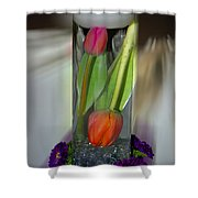 Floral Table Piece Shower Curtain