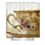 Floral Tea Shower Curtain