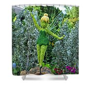 Floral Tinker Bell Shower Curtain