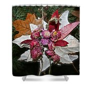 Floral Tree Ornament Shower Curtain