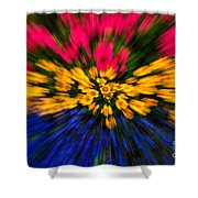 Floral Triple Zoom Shower Curtain