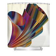 Floral Trumpets Shower Curtain