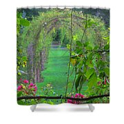 Floral Window Shower Curtain