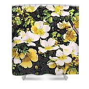 Floral Yellow Shower Curtain
