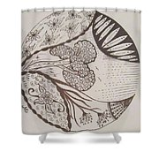 Floral Zen Tangle  Shower Curtain