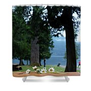 Floral's At The Lake  Shower Curtain