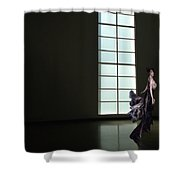 Florence Blumenthal Haunts The Halls Shower Curtain