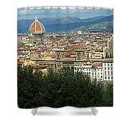 Florence Italy Panoramic Shower Curtain