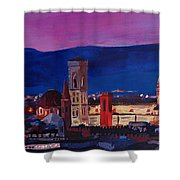 Florence Skyline Italy With Santa Maria Del Fiore Shower Curtain