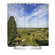 Florence Views Shower Curtain
