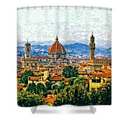 Florence Watercolor Shower Curtain