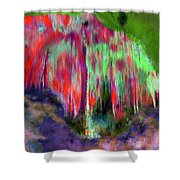 Florescent Cave Shower Curtain