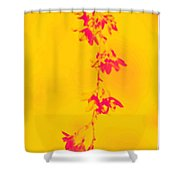 Florets In Ochre Shower Curtain