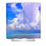 Florida Bay At Shell Pass Filtered Shower Curtain
