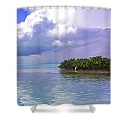 Florida Bay Island Filtered Shower Curtain