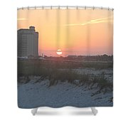 Florida Beach Sunset Shower Curtain