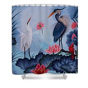 Florida Beauty Hand Embroidery Shower Curtain by To-Tam Gerwe