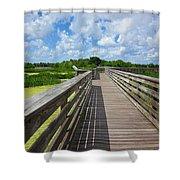 Florida Boardwalk Shower Curtain