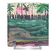 Florida City-skyline2 Shower Curtain
