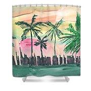 Florida City-skyline3 Shower Curtain