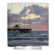 Florida Fishing Pier Shower Curtain