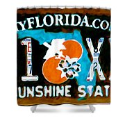 Florida License Plate Shower Curtain