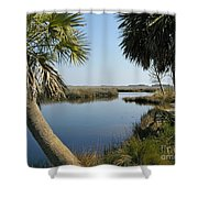 Florida Marshland Shower Curtain