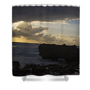 Florida Morning Sunrise Silhouette Shower Curtain