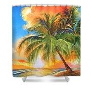 Florida Palm Sunset Shower Curtain
