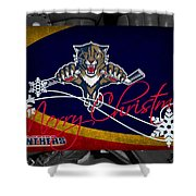 Florida Panthers Christmas Shower Curtain