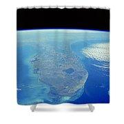 Florida Peninsula, Discovery Shuttle Shower Curtain
