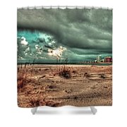 Florida Point Begining Of The Storm Shower Curtain