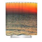 Florida Point Sunrise Shower Curtain
