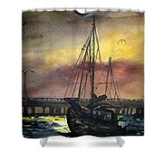 Florida Sailing Shower Curtain