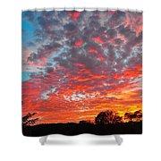 Florida Spring Sunset Shower Curtain
