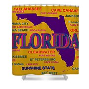 Florida State Pride Map Silhouette  Shower Curtain