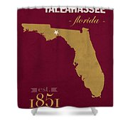 Florida State University Seminoles Tallahassee Florida Town State Map Poster Series No 039 Shower Curtain