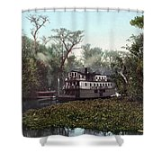 Florida Steamboat, C1902 Shower Curtain