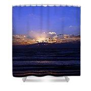 Florida Sunset Beyond The Ocean  II Shower Curtain